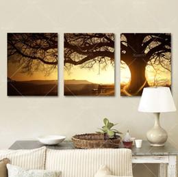 Фреймовая роспись онлайн-Сумерки Mural, 3 шт. Отпечатки на холсте Wall Art Картина маслом домашнего декора (без рамки)