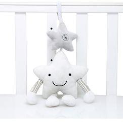 baby-bettwäsche Rabatt Plüsch Musical Mobile Windspiele White Star begleiten Spielzeug auf dem Bett Geschenk für Babys hängen