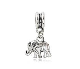 Braccialetto d'argento elefante all'ingrosso online-Adatto Pandora Sterling Silver Bracciale 30pcs Carino Elephant Ciondola Perline Charms Per European Snake Charm Catena Moda Gioielli FAI DA TE All'ingrosso