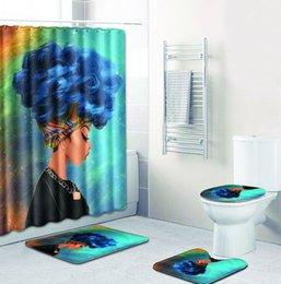 2019 combinación de ducha cuarto de baño cortina de ducha alfombra del piso combinación traje de cuatro piezas baño aseo alfombra ducha alfombra de baño combinación de ducha baratos