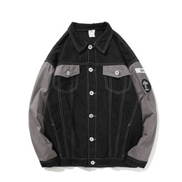 Японская одежда хараюку онлайн-Japanese hip hop style MA1 pilot jacket Harajuku street print jacket embroidery label men's women's  clothing coat