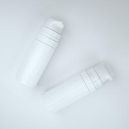 frete grátis Desconto Frete grátis 5 ml 10 ml Branco mini Garrafa De Bomba De Loção Airless, amostra e teste garrafa, Recipiente Airless, Embalagem Cosmética