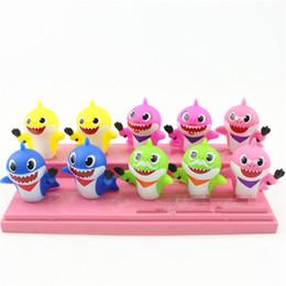 juguetes para niños Rebajas 10 unids / lote bebé Shark Squeeze juguetes vinilo juguetes lindo regalo de dibujos animados para niños niños Party Party MMA1543