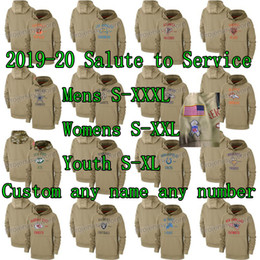 Hoodies de equipes on-line-2019-20 Salute to Service Hoodie Sweatshirt 32 Team Custom Mens Womens Youth Foot ball Jerseys Any Name Any Number S-XXXL Wholesale