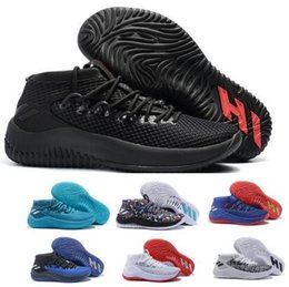 the latest f4eef 67f95 dame shoes Coupons - Man Dame 4 Basketball Shoes Sneakers Mens 2018 Top  Black Camp Static