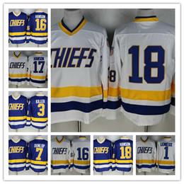 2019 camisolas de gelo 2016 CHEFES Charlestown dos homens 16 Jack HANSON 18 Jeff Hanson 17 Steve HAN ICE 1 Denis Lemieux 7 Francine Dunlop 3 Killer Hóquei Jersey desconto camisolas de gelo