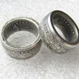 2019 penna di incenso Morgan Silver Dollar Coin Ring 'aquila' placcati argento realizzati a mano in Taglie 8-16