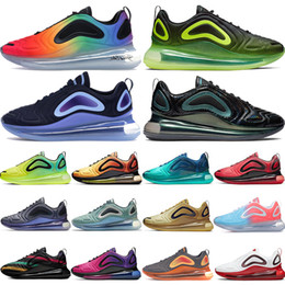 Néons de sport en Ligne-Chaussures Nike Air Max 720 de course pour hommes Be True 2019 Collection «Northern Lights» de Black Lights Night Sunrise pour femmes Noir Rose Blast Northern Lights