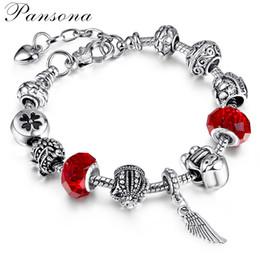 2019 brazaletes asiáticos de plata Joyas para mujer Diamante encantos pandora 925 joyería de plata esterlina DIY cuentas de vidrio joyería de lujo del diseñador pulseras de las mujeres SL74