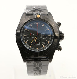 мужчина часы хронограф известные бренды Скидка Новый горячий продавец известный бренд Avenger 45 мм кварцевые хронограф полный черный мужские часы часы мужские наручные часы Наручные часы вращающийся безель