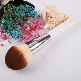 set de pinceles de maquiagem blue sky cosméticos Desconto Tamanho grande Fundação LA MER solto escova em pó bb creme em pó escovas de maquiagem escova ferramenta de maquiagem cosméticos 10 pcs frete grátis