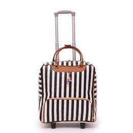 Leder reisetaschen männer online-Neue Frauen Reisegepäck Koffer Tasche Hochwertige Rolling Trolley Leder Carry-Ons Männer Gepäck Räder Dragboxes