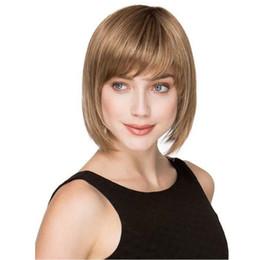 Argentina Nueva tendencia de la venta caliente Simple Bobo pelo aire flequillo corto pelo recto moda femenina Uninversal jooyoo Suministro