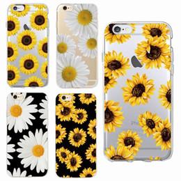 Canada Été Mignon Daisy Tournesol Fleur Florale Souple Clair Cas De Téléphone Fundas Coque Pour Iphone 7 7 plus 6 6 s 8 8 plus X Xs Max Samsung Offre