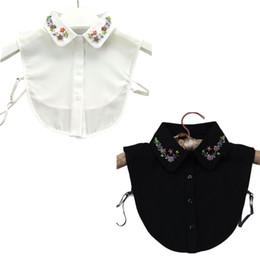 Coreano Womens Beading artesanal Jóias lapela Falso colar colorido Imitação de cristal Flor da Primavera destacável Metade Camisa Blusa de Fornecedores de arco musical