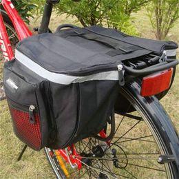 Sacchetto d'acqua per la bicicletta online-Mountain Bike Back Pack Alta capacità Water proof Double Deck Borsa posteriore da bicicletta con cerniera Comode borse da sella 11hlD1