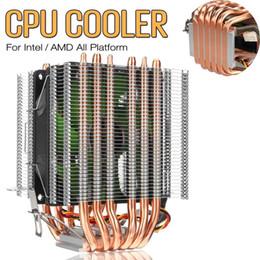 Hitze rohr kupfer online-3 Pin 6 Kupfer Heat Pipes CPU Kühler Lüfter Kühler Dual Tower Kühler Kühlkörper Lüfter für Intel LGA 1150/1151/1155 für AMD