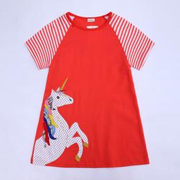 Menina do verão Vestido desenhos animados dos cervos Impresso Crianças Flower Dress Cotton Casual Criança Vestido INS venda quente do bebê roupa de