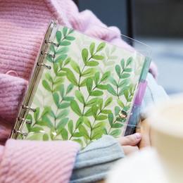 Canada Carnet 2018 petit livre de feuilles mobiles fraîches ensemble PVC transparent clip de feuilles mobiles en vrac livre coquille creative supplier shell fresh Offre