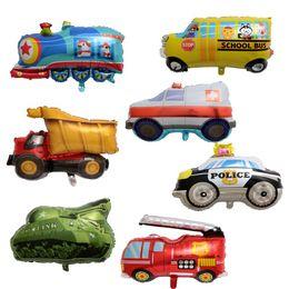 2019 palloncini speciali Serie di trasporti Palloncino Film di alluminio Forma speciale camion dei pompieri Macchina della polizia Palloncini per bambini Decorazione di cerimonia nuziale Festa di compleanno 2 2lmE1 palloncini speciali economici