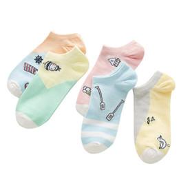 2019 farbe sommer stiefel Großhandelssommer-Boots-Socken-weibliche Zuckerwatte-Farben-Karikatur-Boots-Art- und Weiseroman-Socken-weibliche Socken jooyoo rabatt farbe sommer stiefel