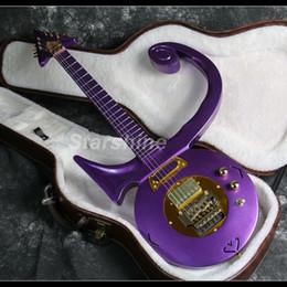 Canada 2019 New Purple Prince-guitare électrique Noble style d'or matériel CNC Fait FR Pont corps solide Offre