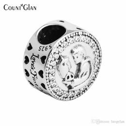 Joyas de plata esterlina con abalorios blancos como la nieve para hacer joyas DIY Fit Pandora europea 925 encantos de plata Berloque Kralen BonCuk desde fabricantes