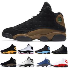 кошки обувь женская Скидка 13 Bred Chicago мужские баскетбольные кроссовки 13s Black Cat бароны голограмма Дизайнер Атлетика Тренеры мужские женские спортивные кроссовки