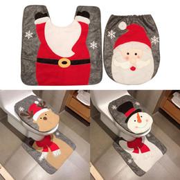 decorações extravagantes do partido Desconto 1/2/3/4 pcs Fantasia Papai Noel Assento Do Tapete Do Banheiro Set Contour Rug Decoração de Natal Fontes Do Partido Do Natal de Navidad Ano Novo Em Casa