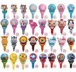 Vingadores de balões unicórnio dinossauro dos desenhos animados animais inflável festa de aniversário ballons decorações suprimentos casamento decorações do chuveiro de bebê de Fornecedores de brinquedos baratos grossistas