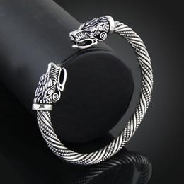Bijoux indiens en Ligne-Adolescent Tête De Loup Bracelet Indien Bijoux Accessoires De Mode Viking Bracelet Hommes Bracelet Manchette Bracelets Pour Femmes Bracelets