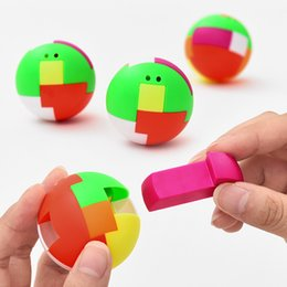 puzzle ball game Coupons - Creative Ball Puzzle Cube Capsule Pinata Intelligence Assembling Ball For Pendant Children Birthday Favors Game Toys Prize Gift