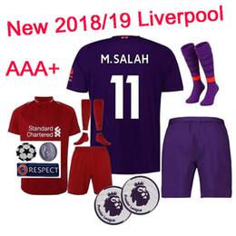 552b65ac2 New 18 19 Home Soccer Jerseys VIRGIL GERRARD M.SALAH 2018 2019 home away Soccer  Jerseys Set socks STURRIDGE Football Shirts