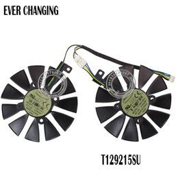 Tarjeta grafica fan asus online-Ventilador de 87MM para ASUS GTX1060 1070 Ti RX 470 570 580 Tarjeta gráfica Everflow T129215SU PLD09210S12HH 28mm Ventiladores de refrigeración