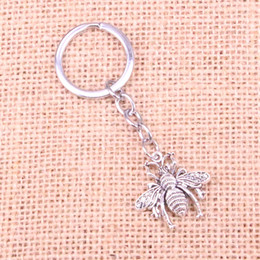 Joyería de moda de metal online-Nueva moda abeja bug llavero de metal hecho a mano llavero regalo de la joyería del partido 26 * 25 mm