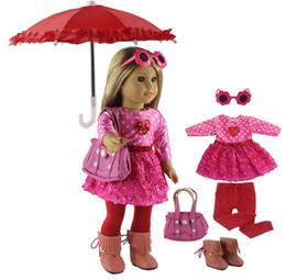 Canada Nouveau 1 Set Rose Robe Vêtements De Poupée pour 18 '' Américain Bitty Bébé Poupée À La Main De Mode Jolis Vêtements X89 Offre