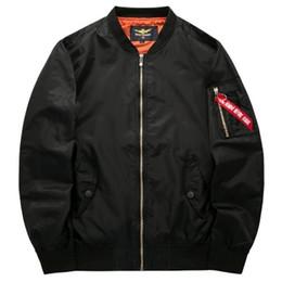 Новая весна и осень большой размер мужской спортивный досуг воротник куртки пилот мужской бейсбольный костюм Добро пожаловать оптовиков на покупку от