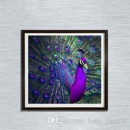 2019 pinturas religiosas Lujo 30 * 30 cm Peacock 100% Completo 5D Diamante Kit de Pintura Decoración Del Hog Inicio Decoración Arte de La Pared Arte de Diamantes Suministros