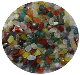 pedras de jade vermelhas soltas Desconto C40 200g 10mm Cores Naturais Multicoloured Ágata Nua Cristais De Quartzo Pedra Chips