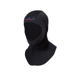 Cappelli resistenti all'inverno online-Cappello di immersione neoprene di vendita calda 3mm Con la cuffia uniex professionale della protezione della testa delle coperture della testa delle mute di inverno a prova di freddo della spalla