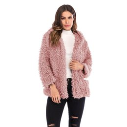 05a98251f1 Womens Coat Winter Hat Short Fund Loose New Woman Fashion Long Sleeve Easy  Cardigan Keep Warm Overcoat Faux Fur Jacket Ladies Clothing