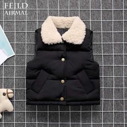 manteau en coton Promotion enfants veste garçons filles veste gilet chaud hiver remplissage en coton col de fourrure manteau de vêtements pour enfants
