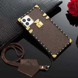 fundas de galaxia alfa Rebajas MONOGRAMA de cuero / caso del iPhone para el 11 Pro Max de lujo del caso de la contraportada para el iPhone Teléfono Coque XS Max XR X 8 7 6 6S Plus