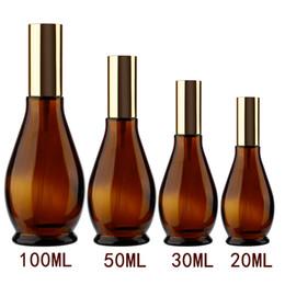 2019 vetro atomico profumo atomizzatore Portable 4 dimensioni a forma di zucca vuoto ambrato di vetro riutilizzabile profumo bottiglia atomizzatore contenitore cosmetici spruzzatore viaggio pentola vetro atomico profumo atomizzatore economici