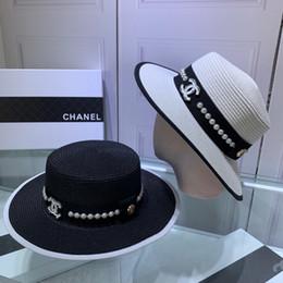 Senhoras largas chapéus on-line-Chapéu de praia de aba larga mulher verão moda disquete Fold Sun Lady proteção ao ar livre palha