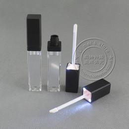 2019 espelhos lábios 500 pçs / lote DHL frete grátis LED luz lip gloss container LED frasco de brilho labial com espelho em um rosto desconto espelhos lábios