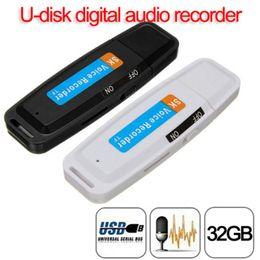 U-Disk Dijital Ses Kaydedici Kalem USB Flash Sürücü ses kaydedici 32 GB'a kadar Micro SD TF Kart Mini kulaklık kalem nereden