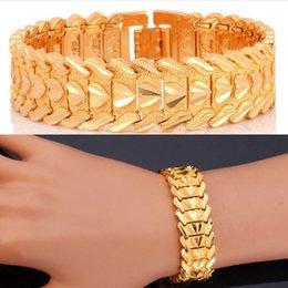 liebe links ring Rabatt Klassische Paar Herz Armband 18 Karat Gold / Platin Überzogene Chunky Kette Link Armband Schöne Armreifen Modeschmuck Geschenk Für Liebe