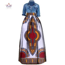 2019 ropa tradicional africana Nueva impresión africana falda de verano para las mujeres más el tamaño Dashiki ropa tradicional africana vestido de bola faldas ocasionales Wy106 J190426 ropa tradicional africana baratos