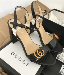 2019 ropa de mujer de buena calidad Nueva moda de cuña zapatos de mujer gladiador hebilla de cinturón zapatos de tacón alto boca de pescado sandalias 2019 gg sandalia mujeres buty damskie